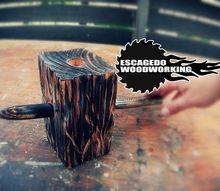 e a very primitive candle holder i made
