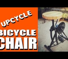 e check out this industrial chair made from an old bike
