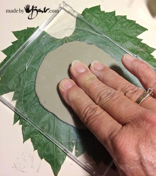 faux fossil forest concrete coasters