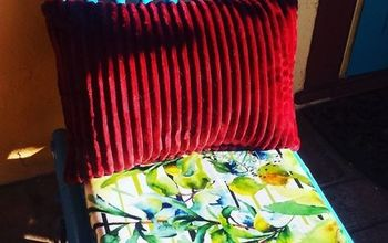 Simple Patio Chair Seat Redo!