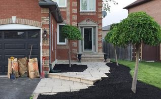 fixing a walkway with sinking stones