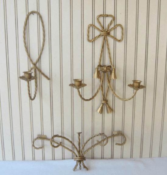fancy vintage planter from 2 thrift store sconces