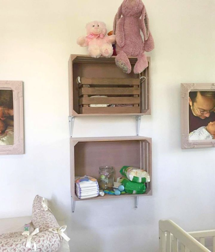 hang crates on your wall for easy storage hometalk