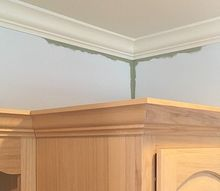 painting diy how to reach corners above tall cabinetry