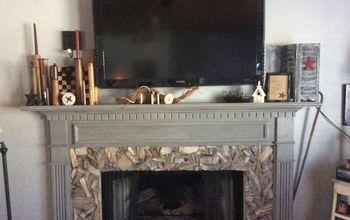 Petrified Wood Fireplace Makeover
