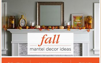 A Simple Guide to a Fall Mantel Display