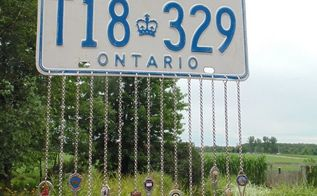 how to make a licence plate windchime