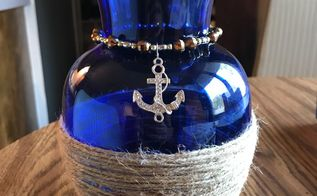 nautical glass vase