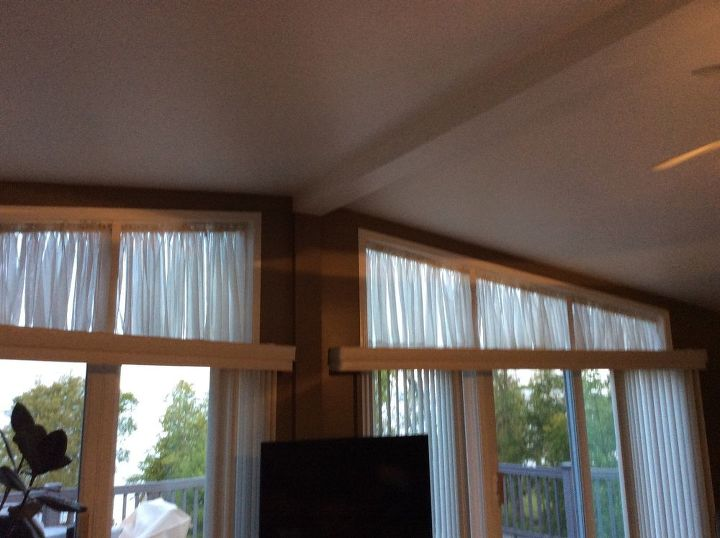 q what else can i use for window treatments for trapezoid windows