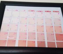 diy dry erase paint chip calendar