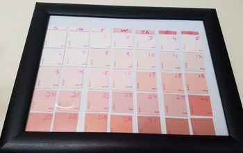 DIY Dry Erase Paint Chip Calendar