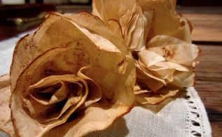 easy diy coffee filter cinnamon fall flowers