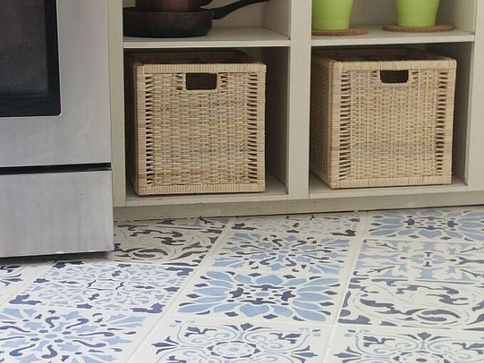 the secret is out how to stencil a tile floor