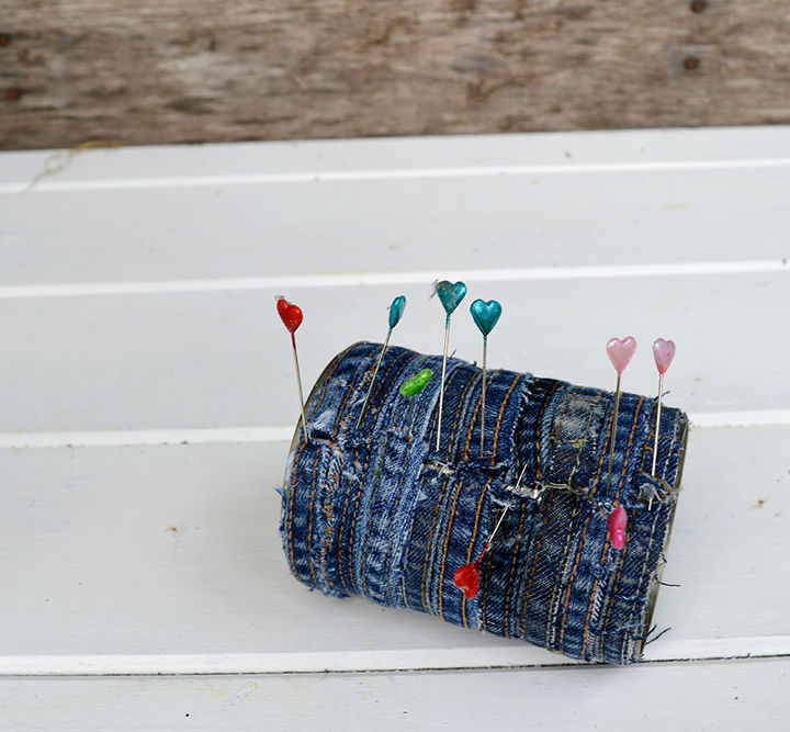 unique gorgeous no sew recycled jeans planter