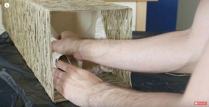 diy epic yarn lamp shade ikea renovation dandiy