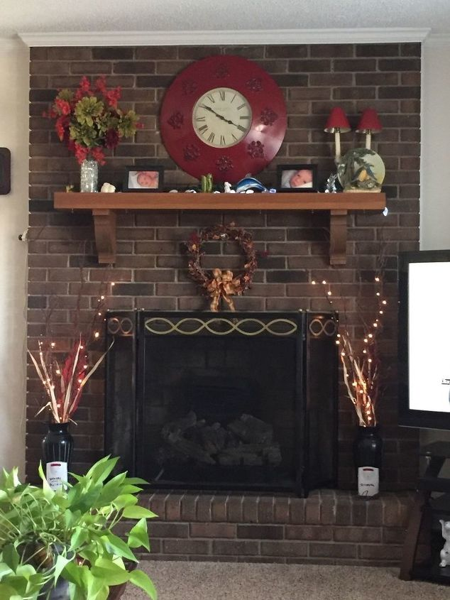 q what should i do with this dark fireplace