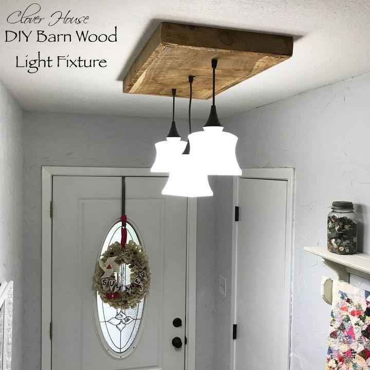Diy Barn Wood Light Fixture Hometalk
