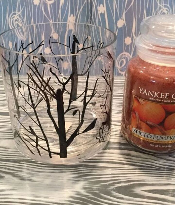 easy and beautiful fall candle