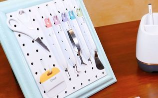 Pegboard craft organization hometalk framed pegboard craft tool organizer jennifer maker publicscrutiny Images