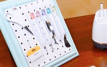 framed pegboard craft tool organizer