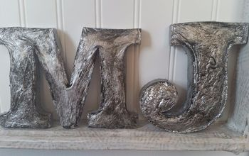 faux metal letters made from melted styrofoam