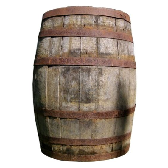 old barrel becomes a bar