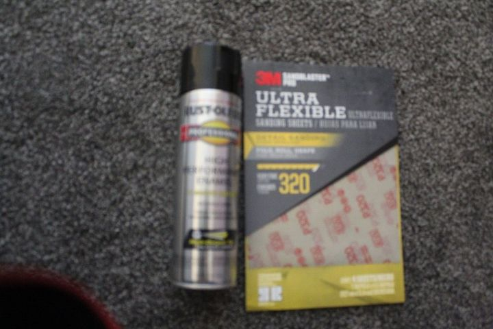 Rustoleum Spray Paint & Flexible sandpaper
