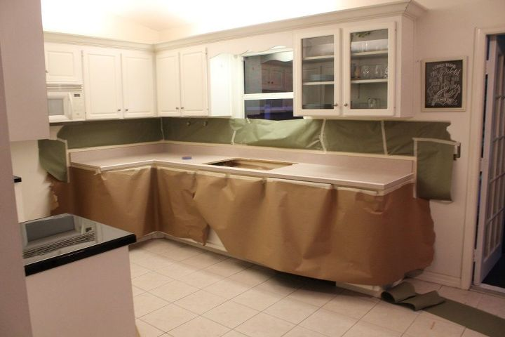 Spray Paint Amp Glaze Kitchen Counter Make Over Hometalk