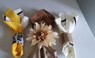 p rolls to napkin rings, All 3 Types of Napkin Rings