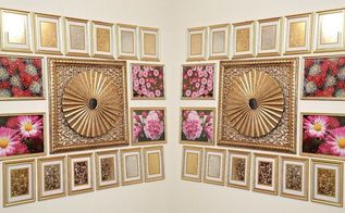diy wall decor mercury glass wall frames, Ta Da Here is the finished look