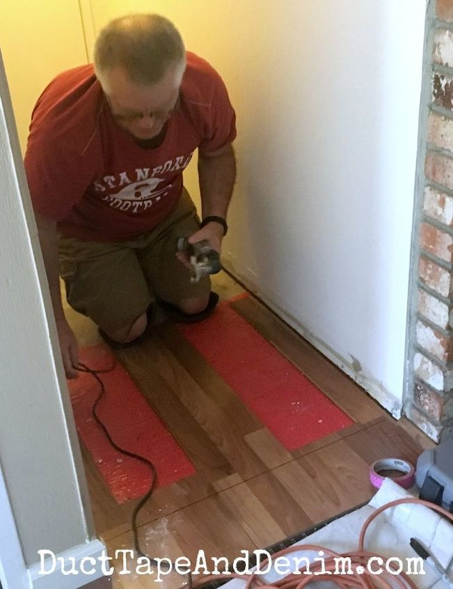 Why We Used Vinyl Peel And Stick Tiles In Our Powder Room And Hall