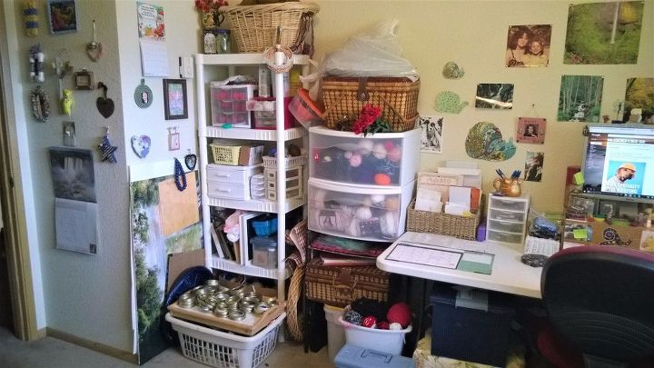 my croffice that is craft room and office combined