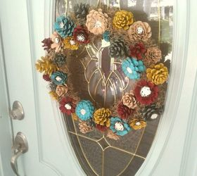 turn your dried out pine cones into