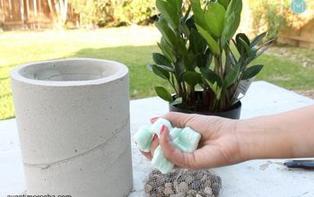 DIY Large Concrete Planters