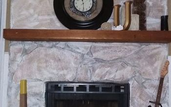 A Burlap Clock for the Mantle