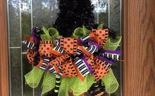 the witch is in make an adorable witch hat wreath in 30 minutes