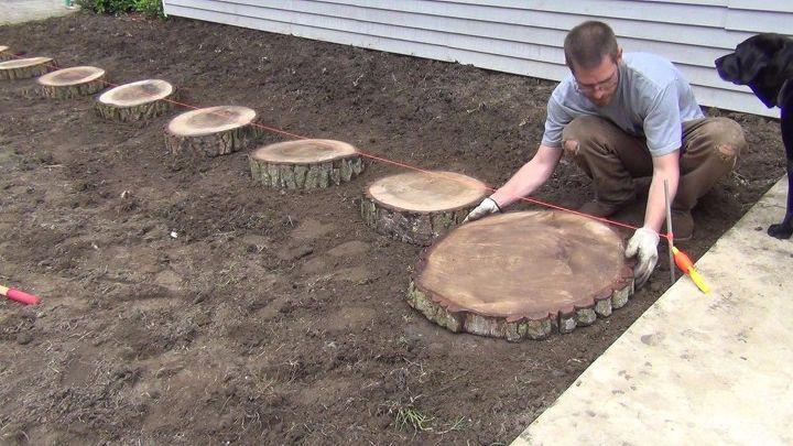 Log Walkway Wood Slices