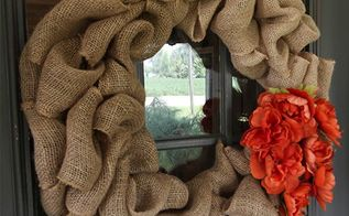 how to make a big puffy burlap wreath