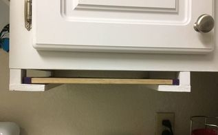 diy pull out cutting board for cabinets