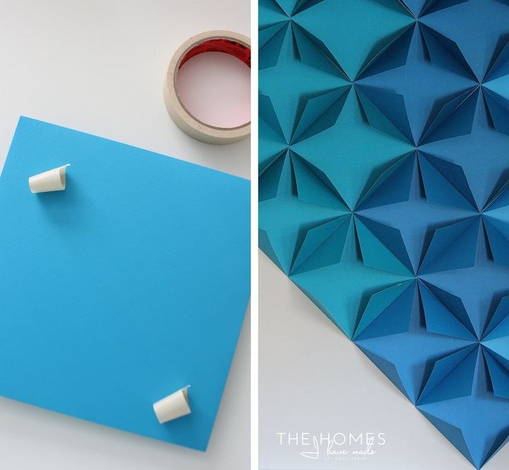 renter friendly 3d paper wall art