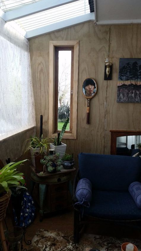 q what s a low cost decorative treatment for my new plywood porch walls