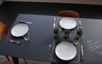 watch designer kyle schuneman make a chalkboard dining table