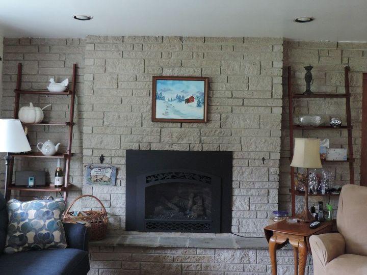 q paint a gas fireplace surround