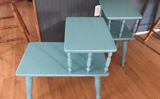 vintage end tables get an update