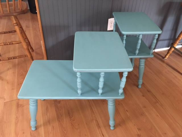 vintage end tables get an update