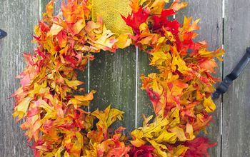 The Easiest 15 Minute Fall Leaf Wreath!