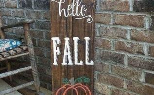 fall front porch sign