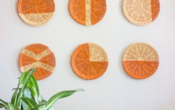Paper Plate Holders Turned Chic Wall Decor!