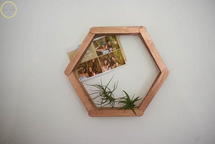 DIY Popsicle Stick Hexagon Shelf | Hometalk