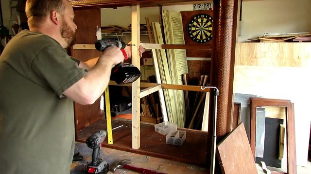 build a rabbit house from an old tv cabinet